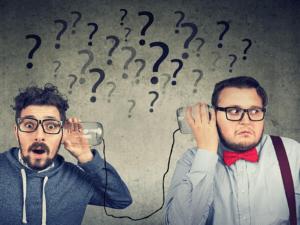 two men struggling to communicate