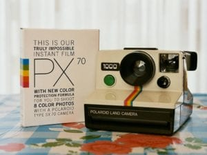 Polaroid Camera and PX70 film