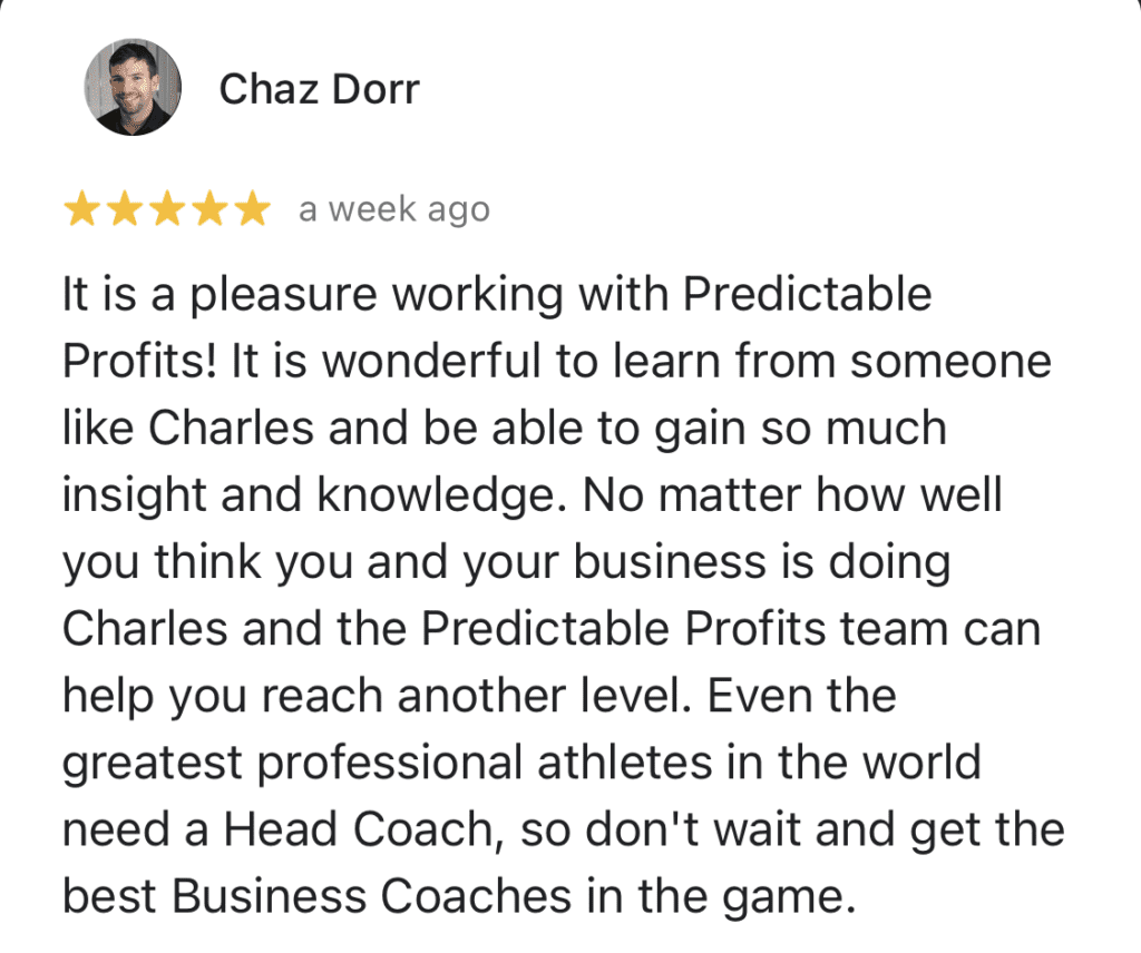 Predictable Profits review